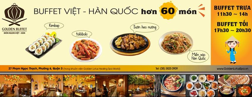 Đi Jjim Jil Bang – Giảm 30% Buffet trưa – GOLDEN BUFFET