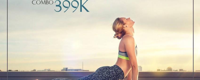 Combo tập Gym Yoga Sauna chỉ 399.000đ tại Golden Gym