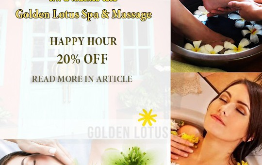 HAPPY HOUR 20% OFF – Golden Lotus Spa & Massage Club