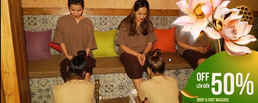 TỪ 165K, OFF 50% BODY & FOOT MASSAGE 60' – GOLDEN LOTUS SPA DANANG